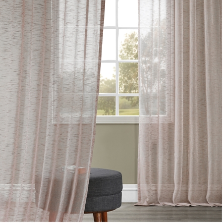 Open Weave Cinder Grey Linen Sheer