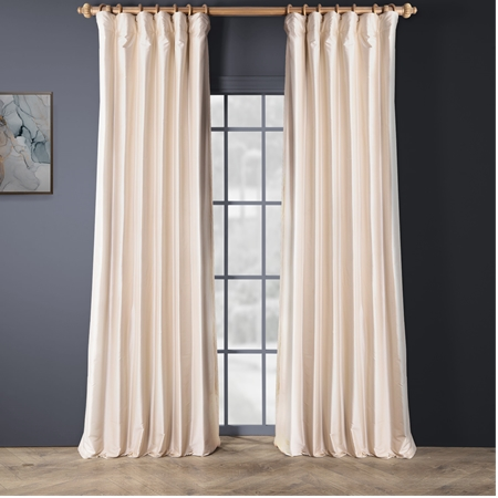 Alabaster Cream Thai Silk Curtain
