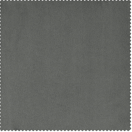 Signature Silver Grey Velvet Fabric