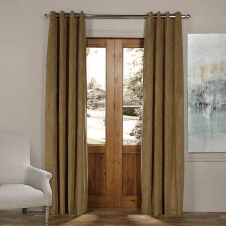 Signature New Fawn Grommet Blackout Velvet Curtain