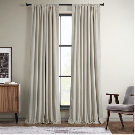 Vanilla Plush Velvet Curtain