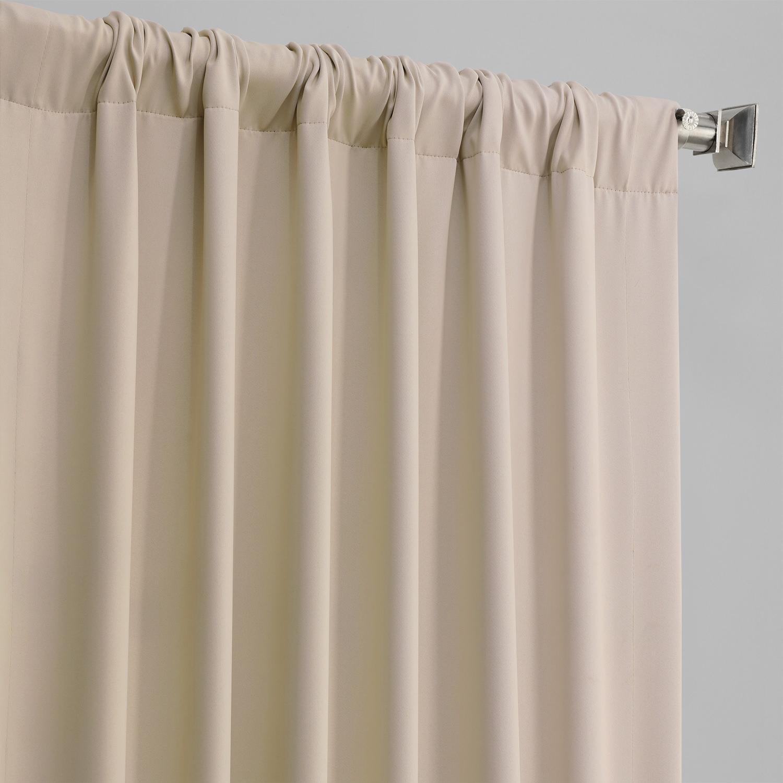 Eggnog Pole Pocket Blackout Curtain