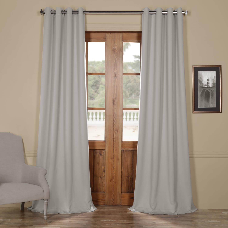 Fog Grey Grommet Blackout Curtain
