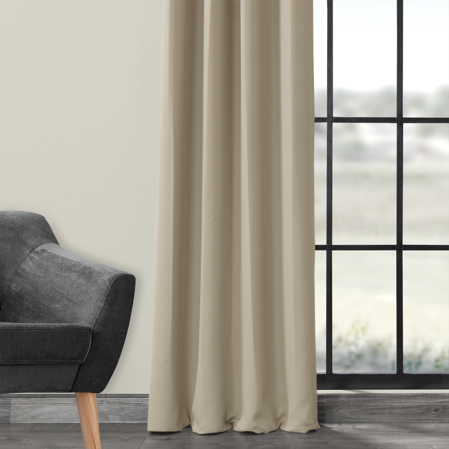 Classic Taupe Grommet Blackout Curtain