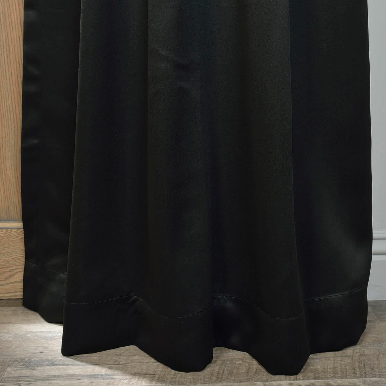 Jet Black Grommet Blackout Curtain