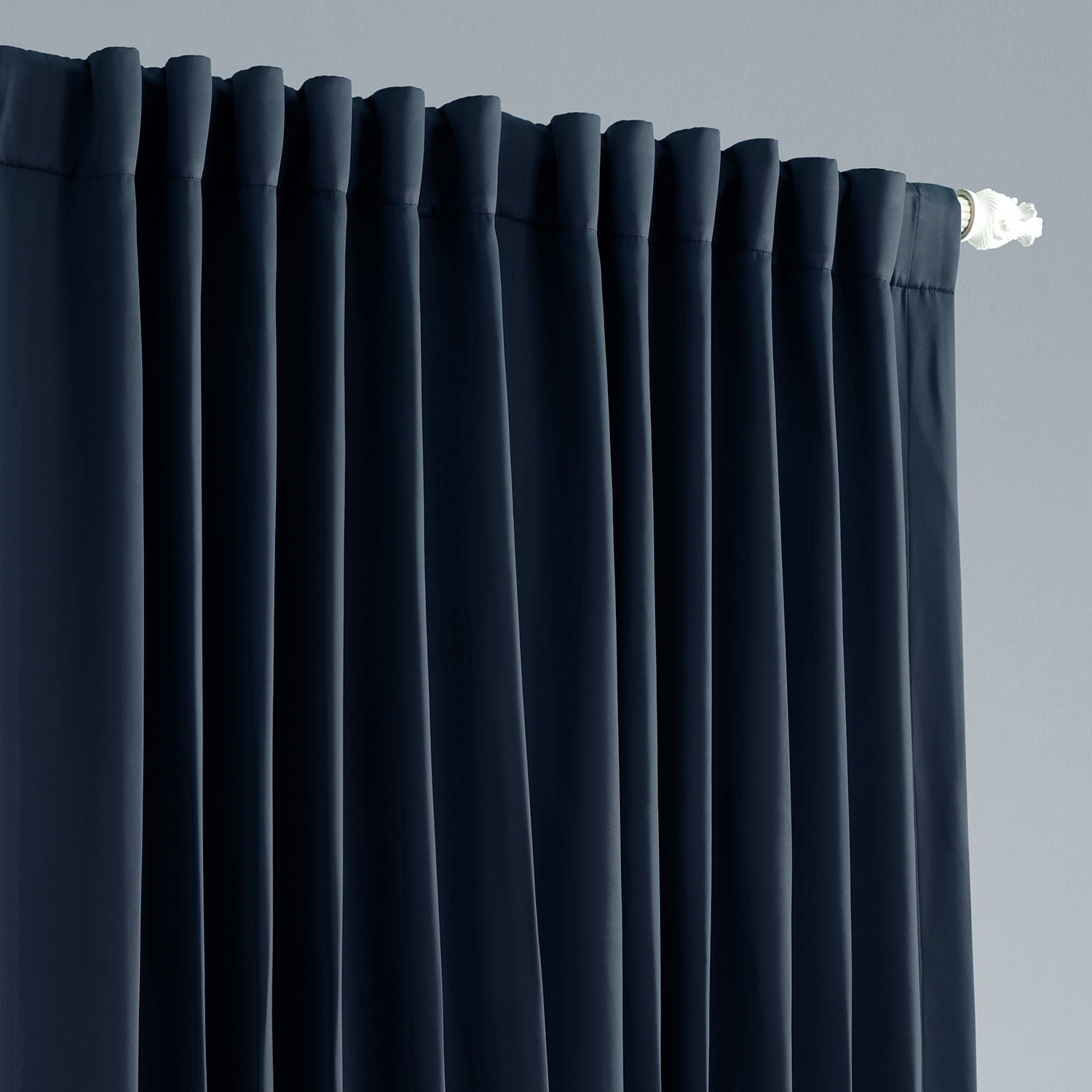 get navy extra wide blackout curtain and drapes. Black Bedroom Furniture Sets. Home Design Ideas