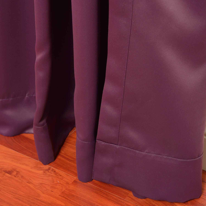 Aubergine Grommet Extra Wide Blackout Curtain