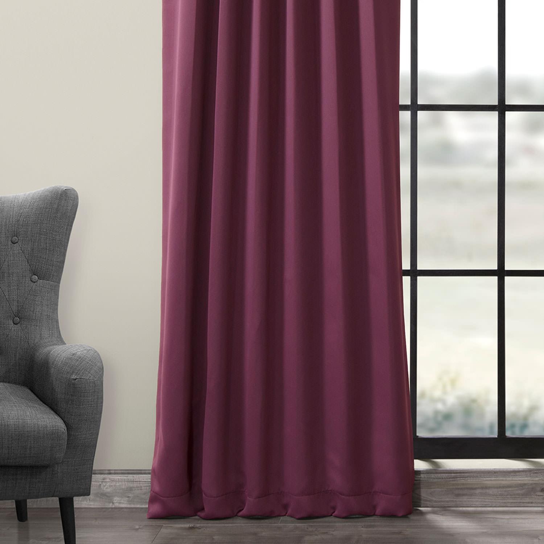 Aubergine Blackout Curtains Drapes