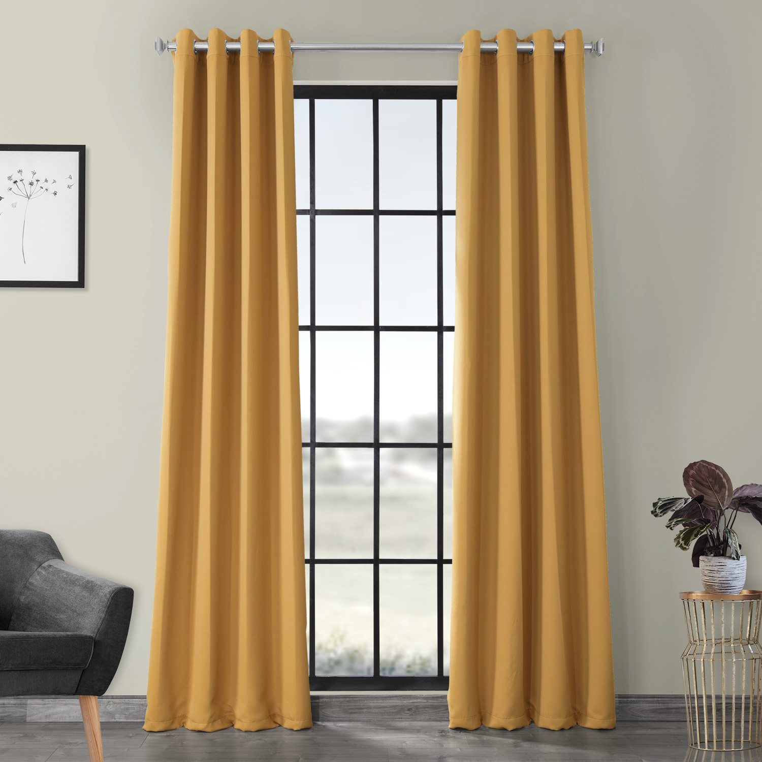 Marigold Grommet Blackout Curtain