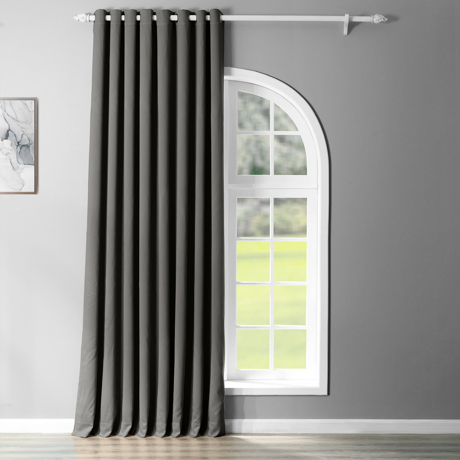Anthracite Grey Grommet Doublewide Blackout Curtain