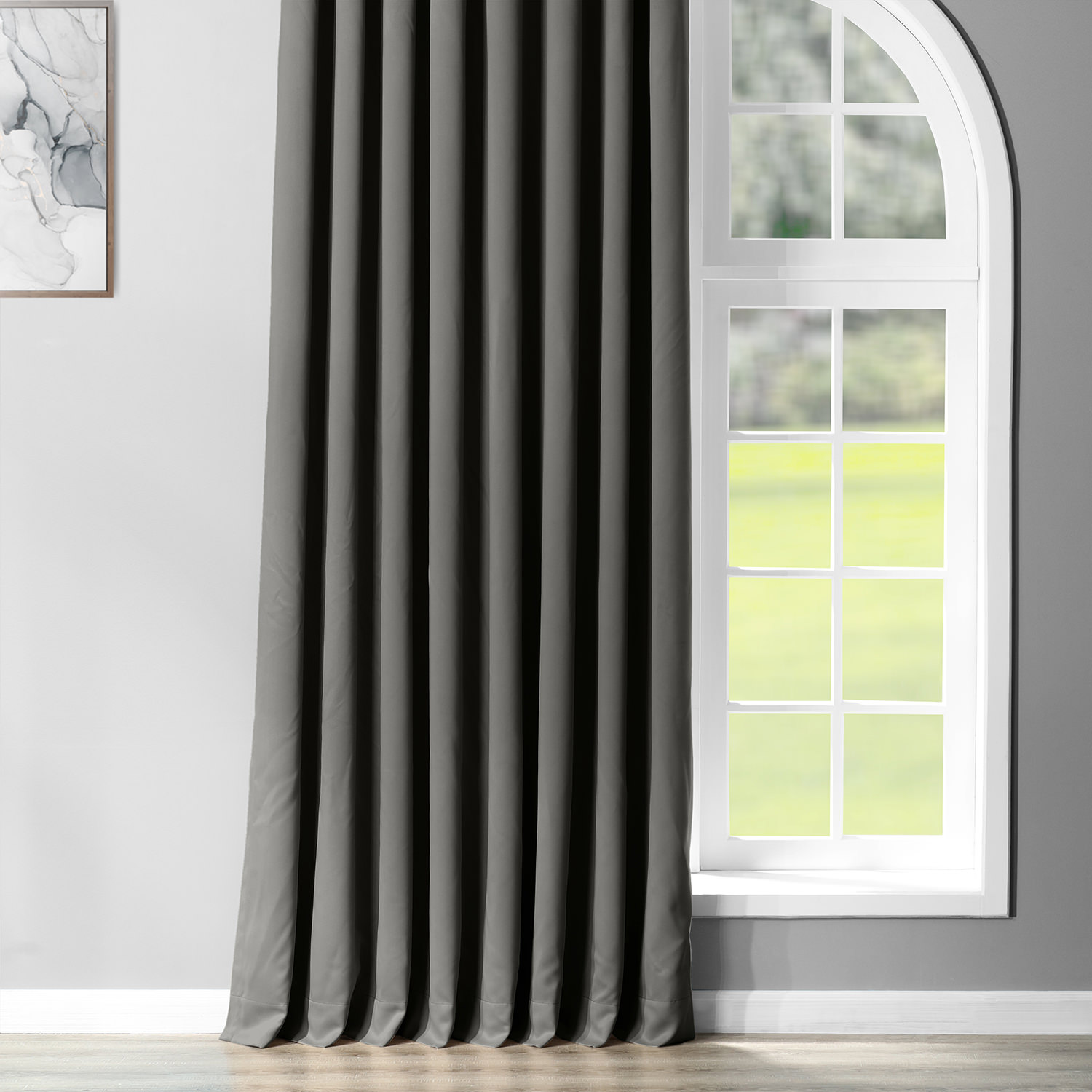 Anthracite Grey Grommet Extra Wide Blackout Curtain