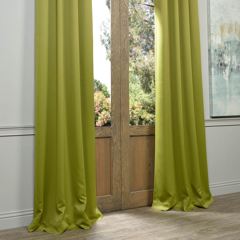 moss green grommet blackout curtains drapes. Black Bedroom Furniture Sets. Home Design Ideas