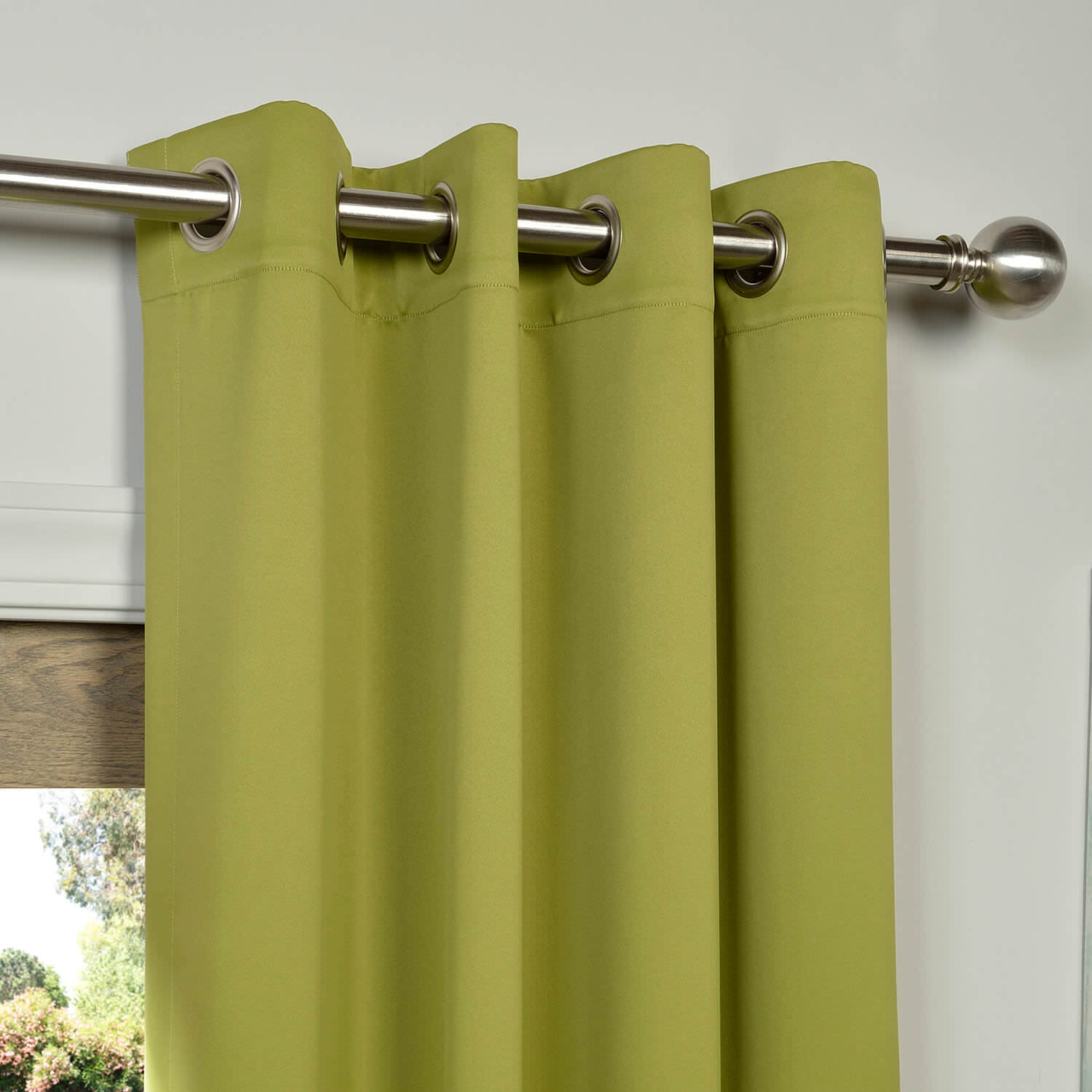 Moss Green Grommet Blackout Curtain