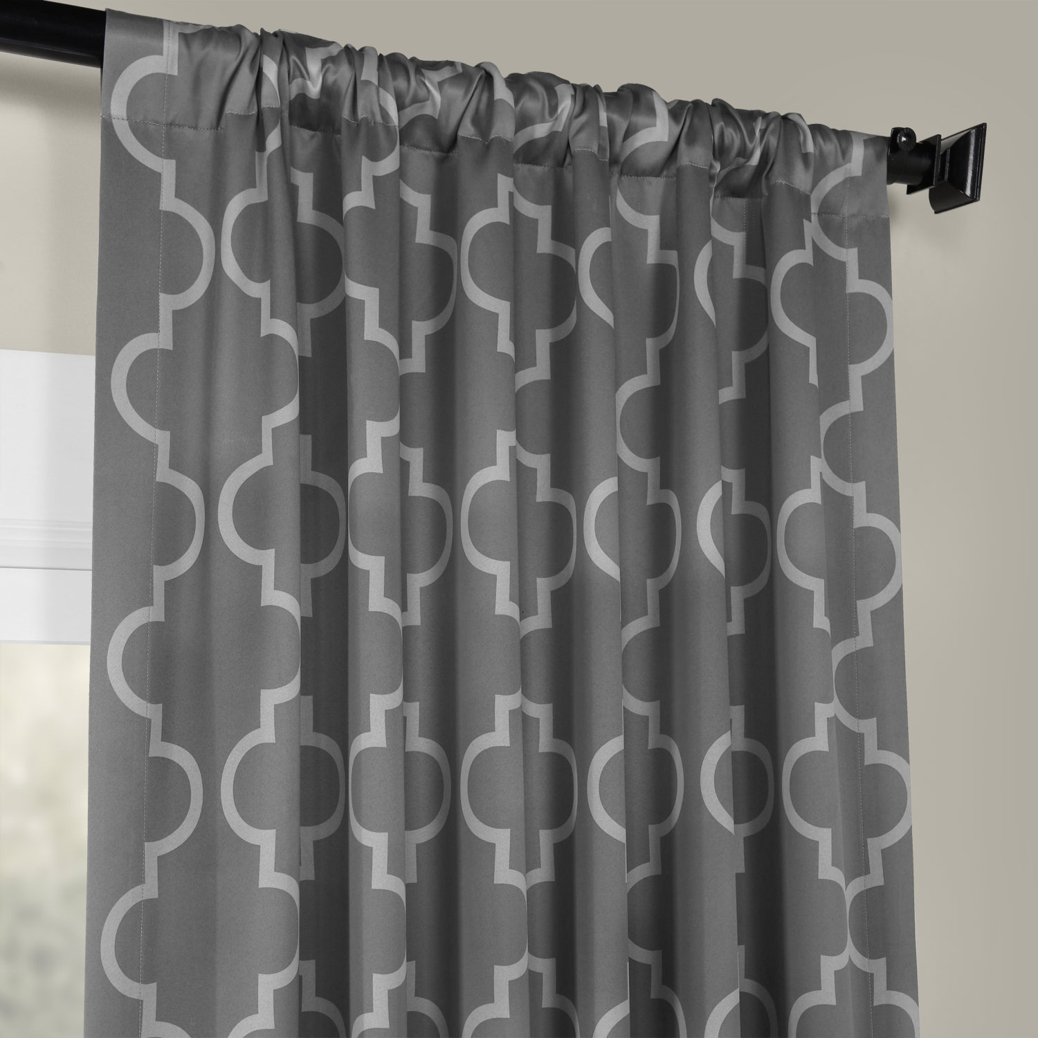Seville Grey & Silver Blackout Curtain