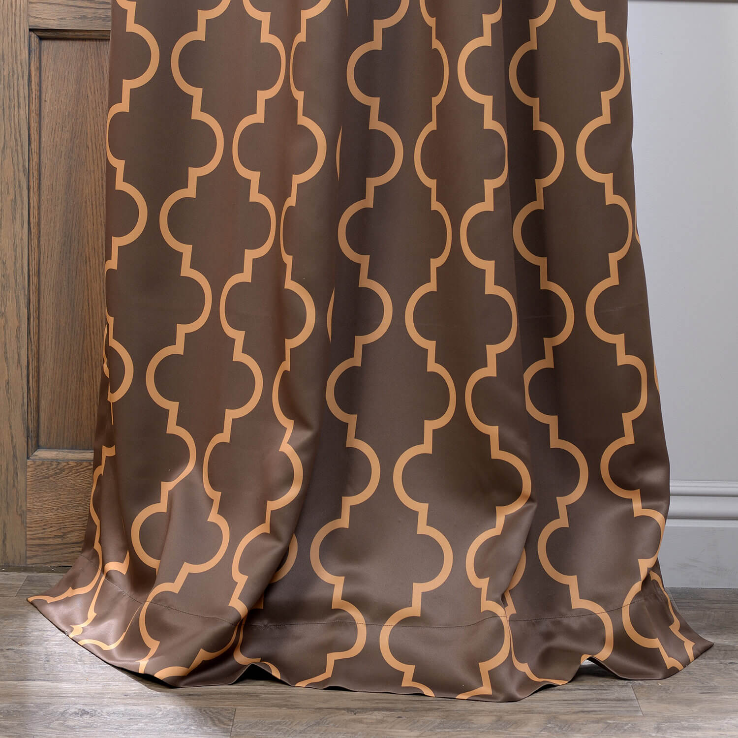 Seville Taupe & Gold Grommet Blackout Curtain