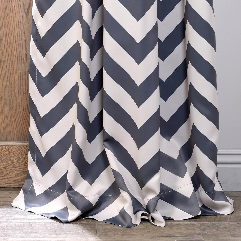 Fez Grey & Tan Blackout Curtain