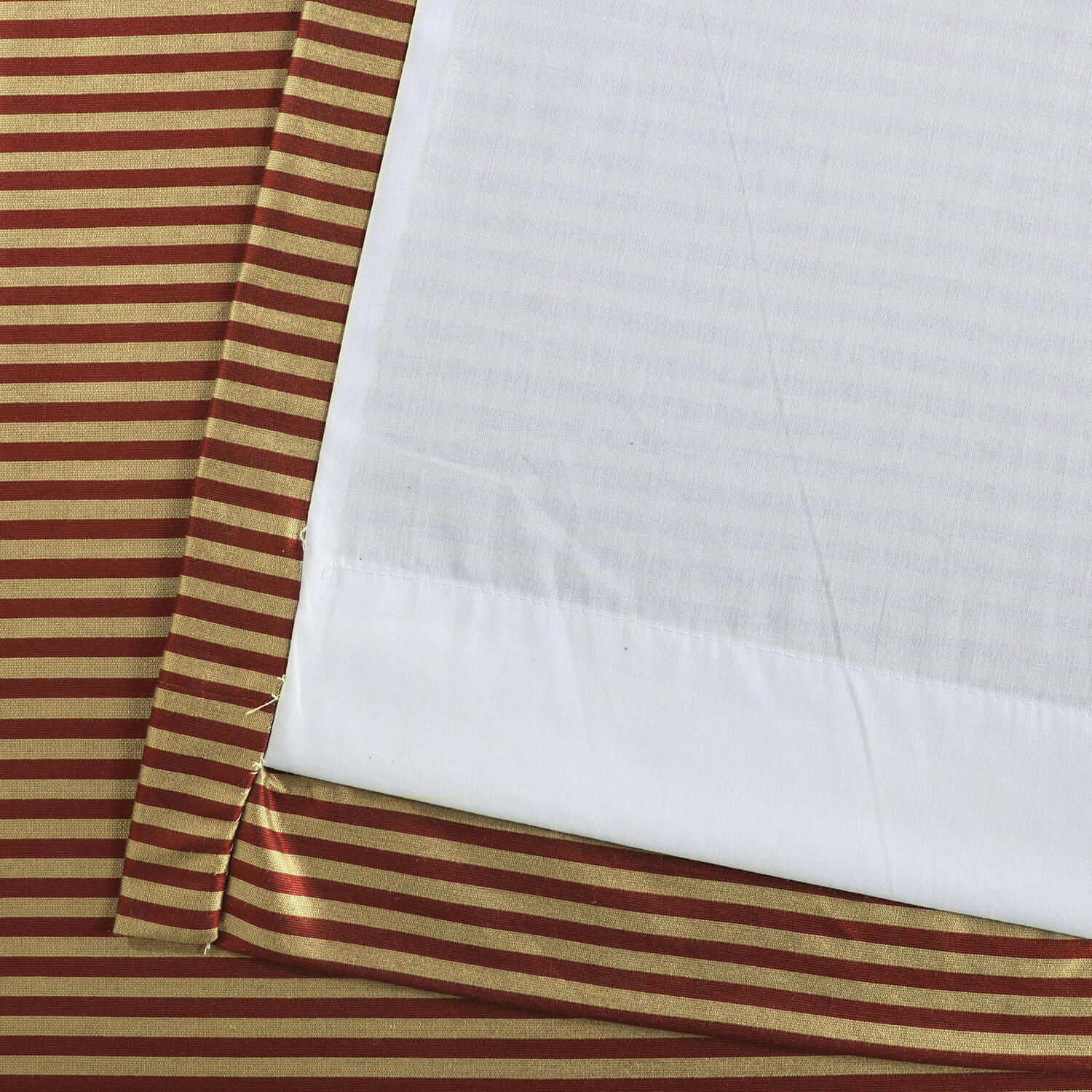 Red & Gold Hand Weaved Cotton Curtain