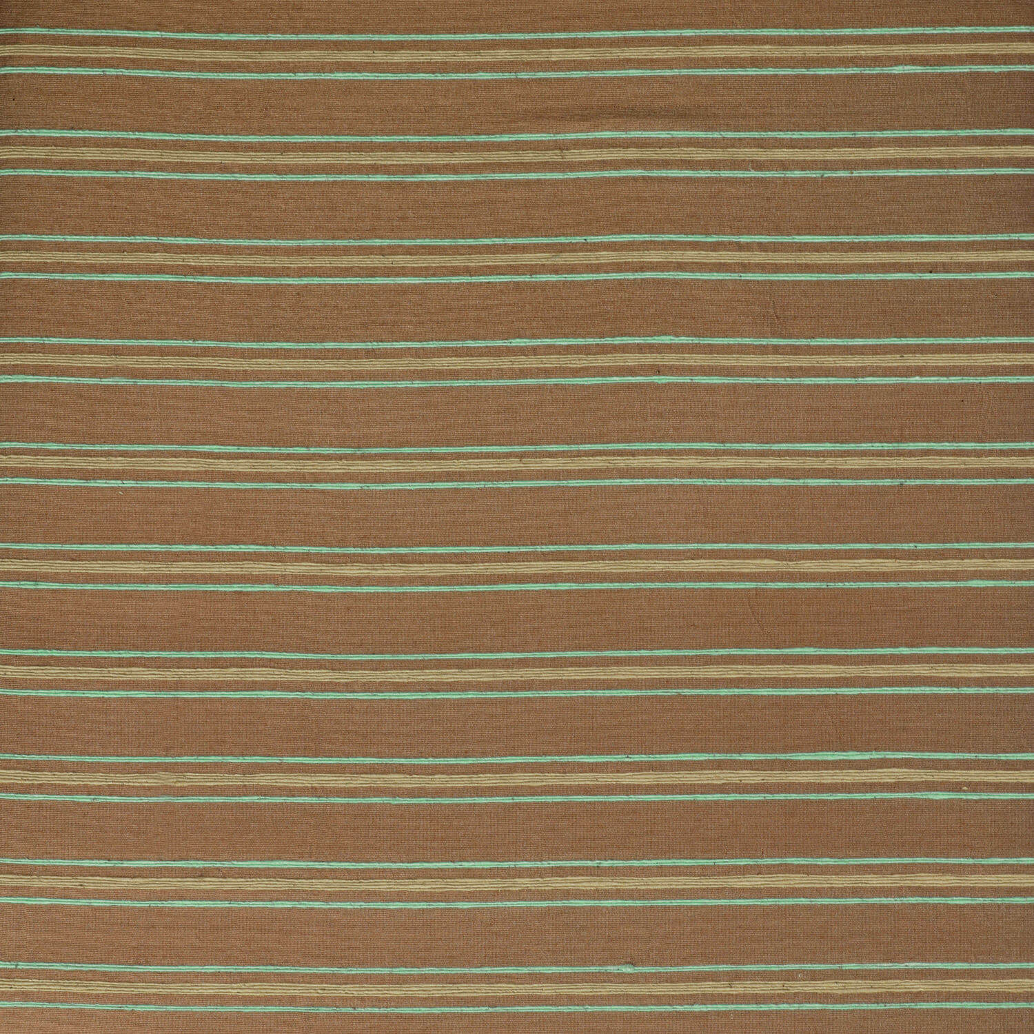 Mocha & Teal Casual Cotton Fabric