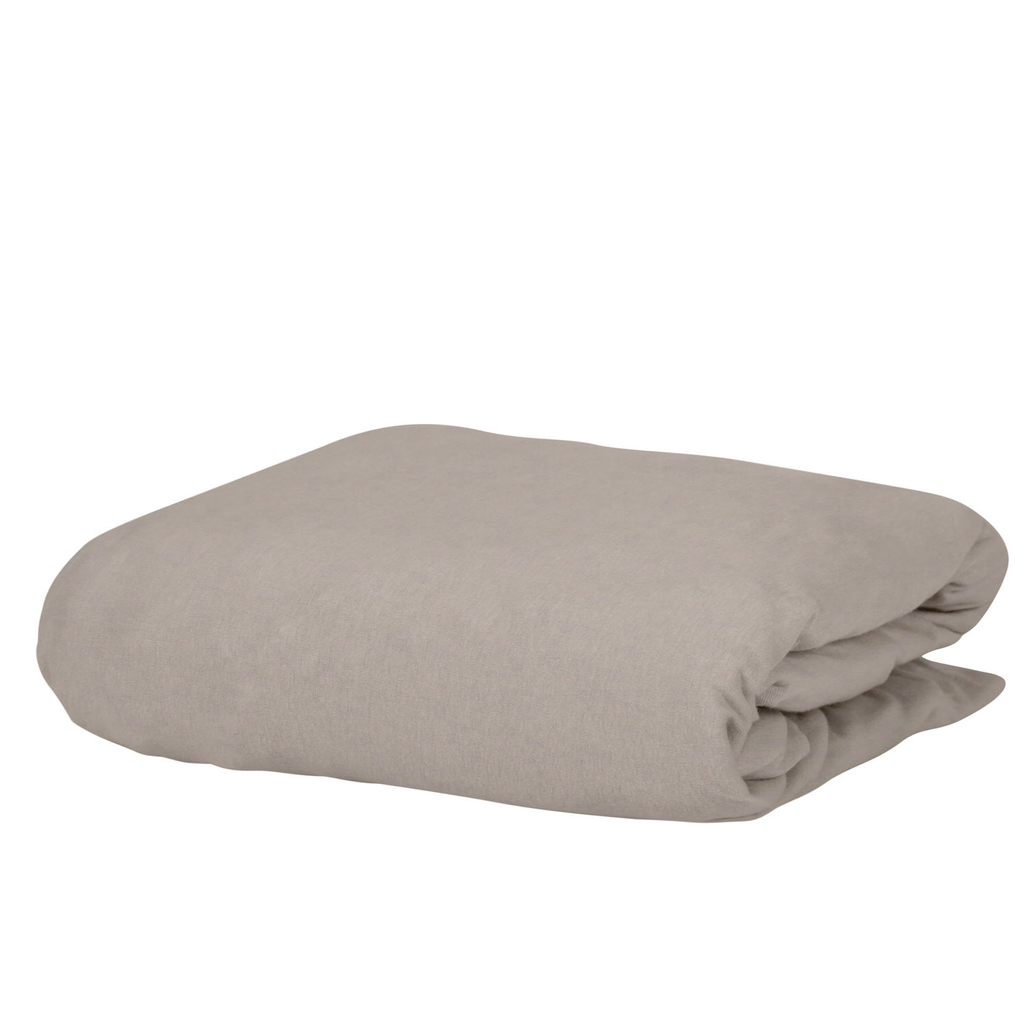 100% Premium Combed Cotton Jersey Beige Fitted Sheet with Aloe Vera Treatment