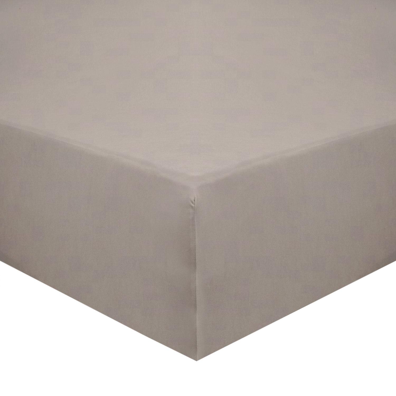 Cotton Beige Bed Sheet Set