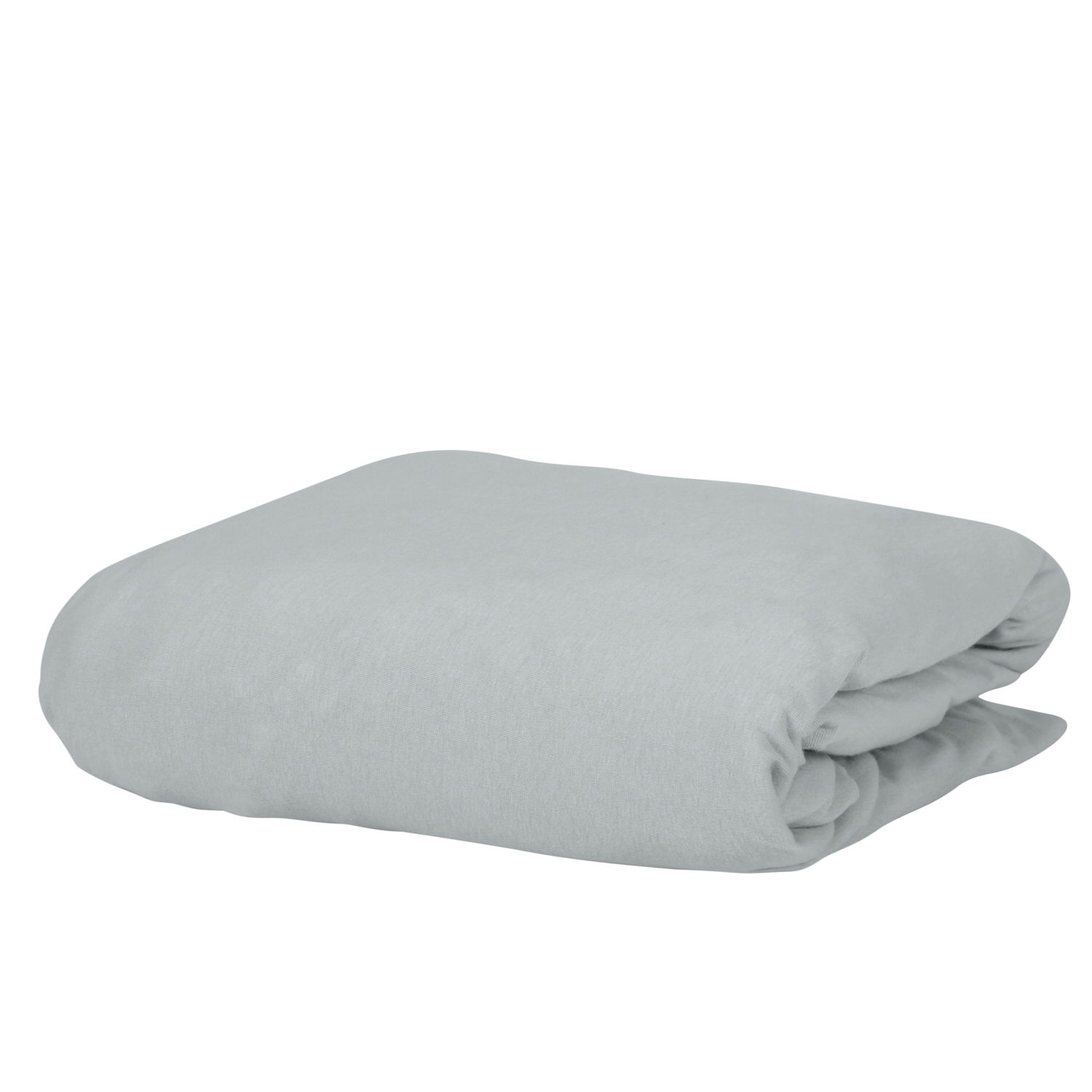 100% Premium Combed Cotton Jersey Silver Fitted Sheet with Aloe Vera Treatment