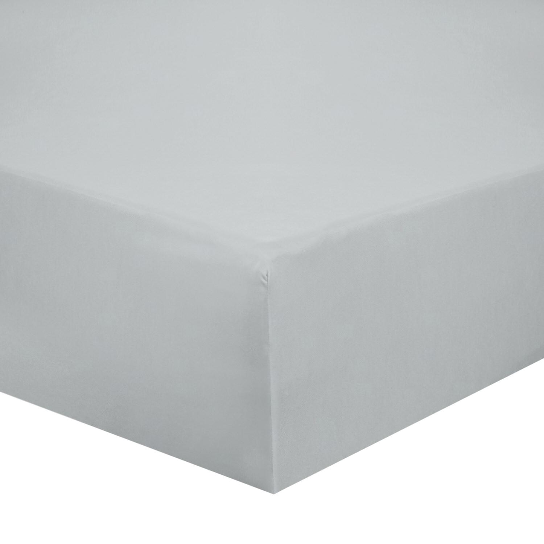 Cotton Silver Bed Sheet Set