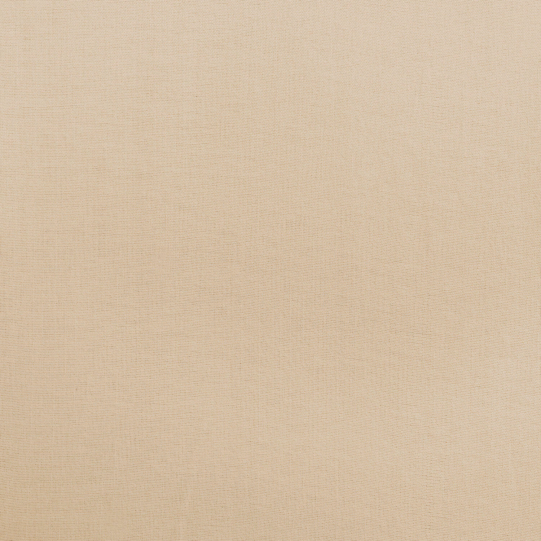 Seashell White Cotton Linen Blend Fabric