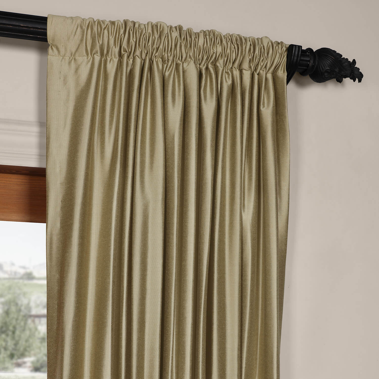 Stardust Silver Cotton Silk Curtain