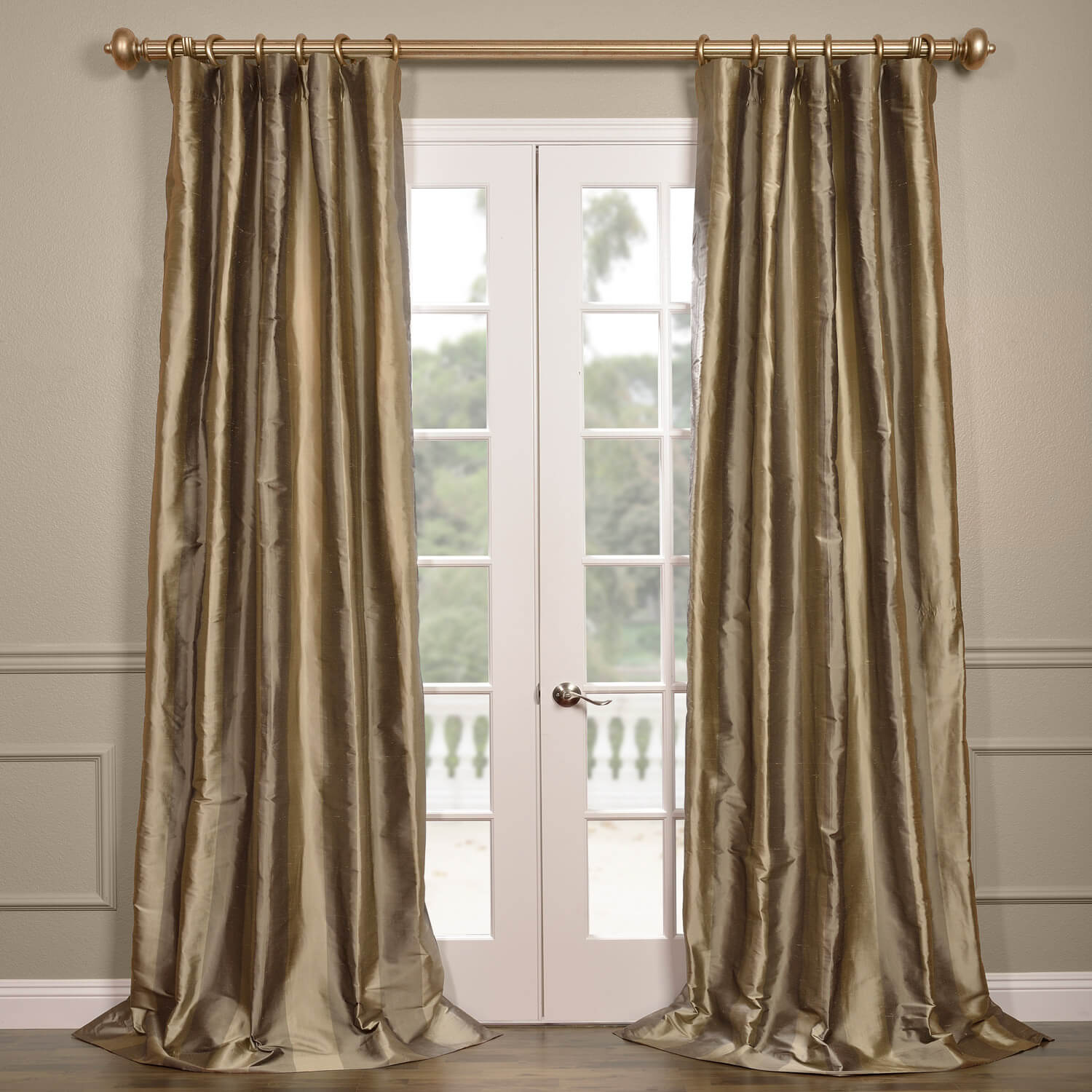 Cairo Haze Silk Stripe Curtain