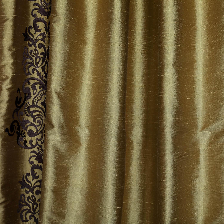 Curtains texture gold - Rowena Gold Dust Silk Curtain