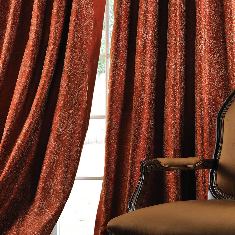 Cayenne Jamawar Silk Curtain