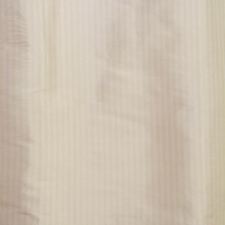 Cambridge White Silk Stripe Fabric