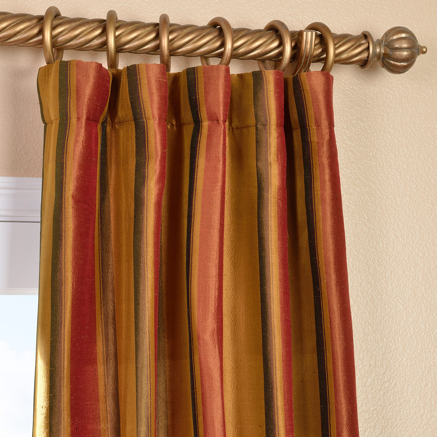 Bengali Silk Stripe Curtain