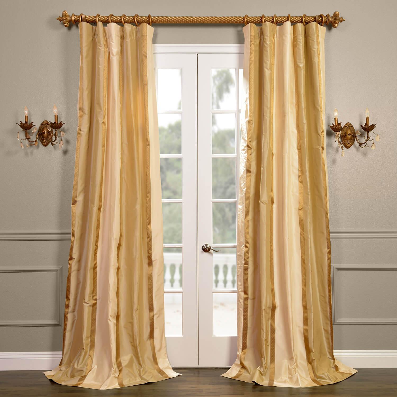 Bristol Silk Stripe Curtain