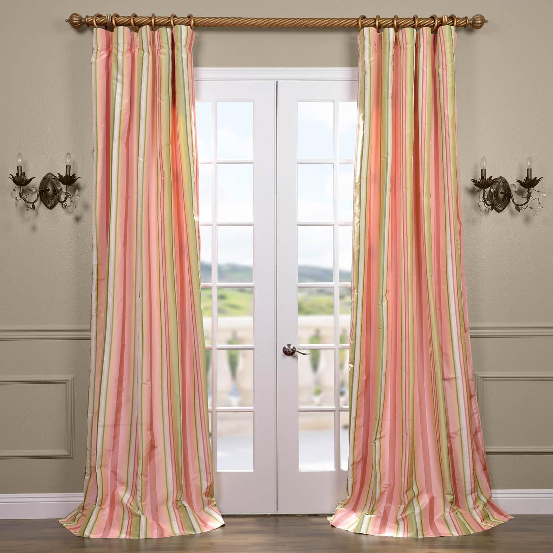 Serendipity Silk Taffeta Stripe Curtain