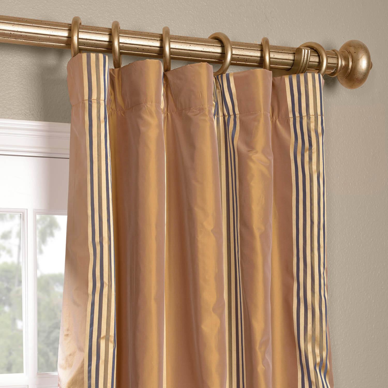 Waterford Gold Silk Stripe Curtain