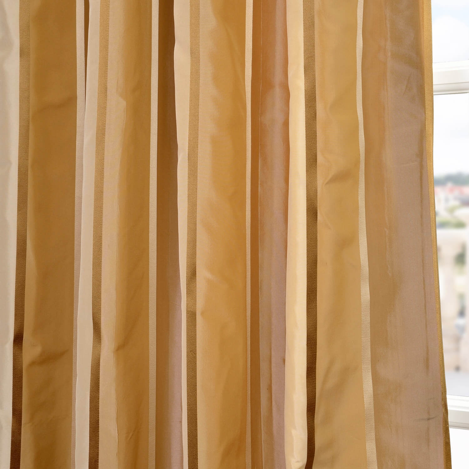 Beverly Hills Silk Taffeta Stripe Fabric