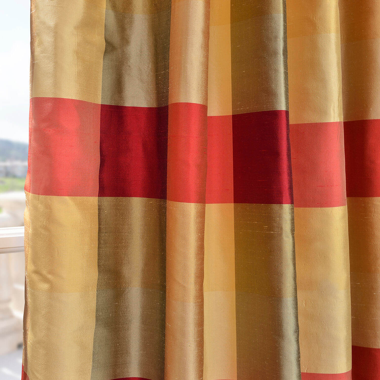 Dynasty Silk Taffeta Plaid Fabric