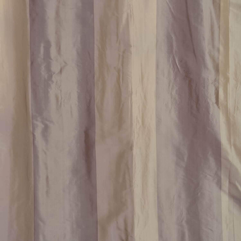Brighton Grey Silk Stripe Fabric