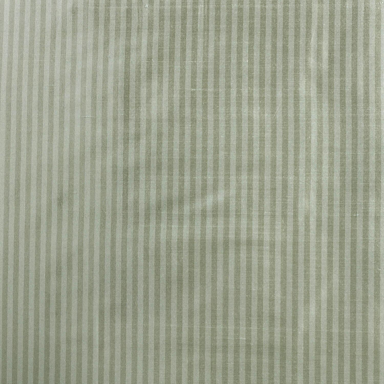Cambridge Silver Aqua Silk Stripe Fabric