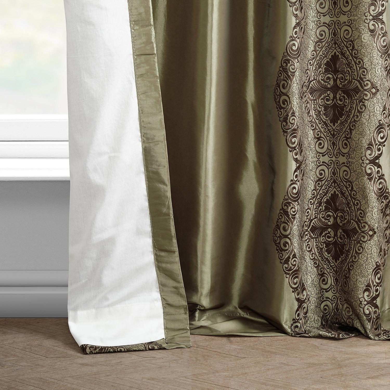 Chai Embroidered Faux Silk Curtain