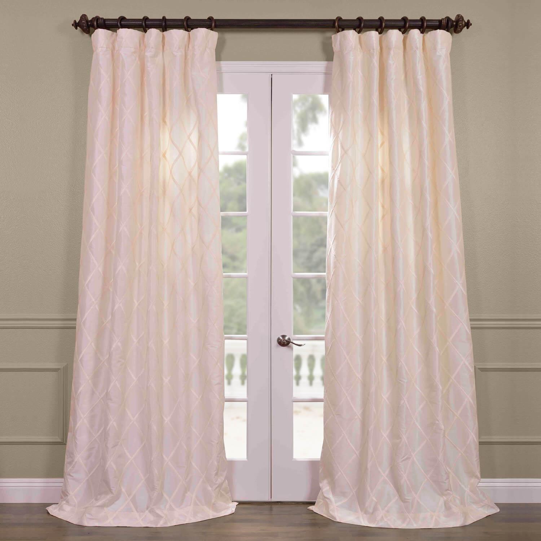 alexandria off white taffeta faux silk curtain