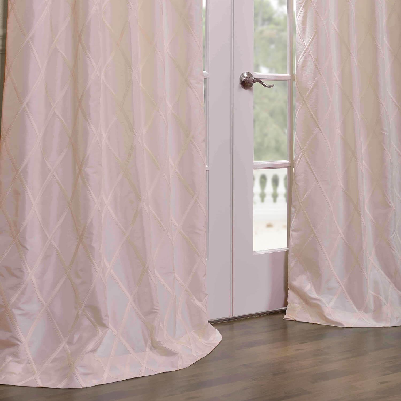 Get Alexandria Off White Taffeta Faux Silk Curtains