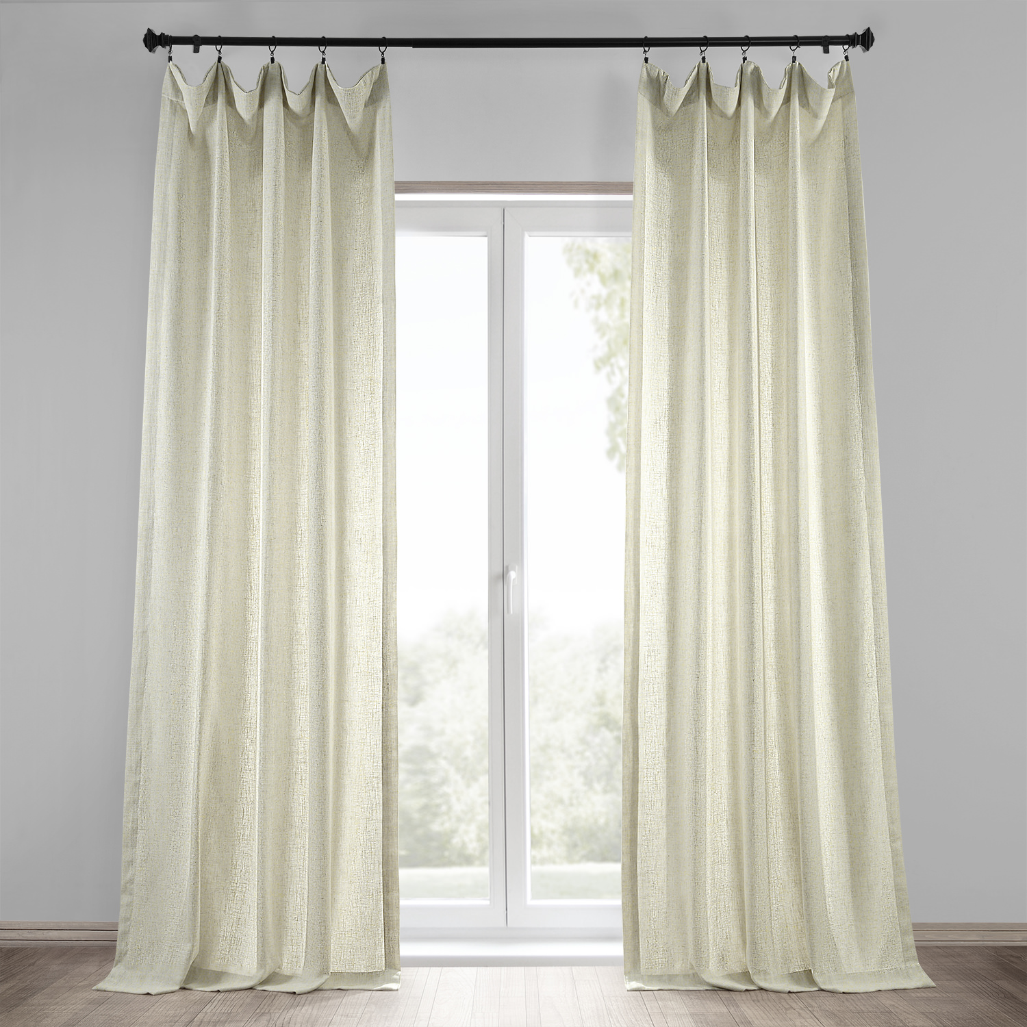 Curtains with hooks on the back 187 home design 2017 - Barley Heavy Faux Linen Curtain