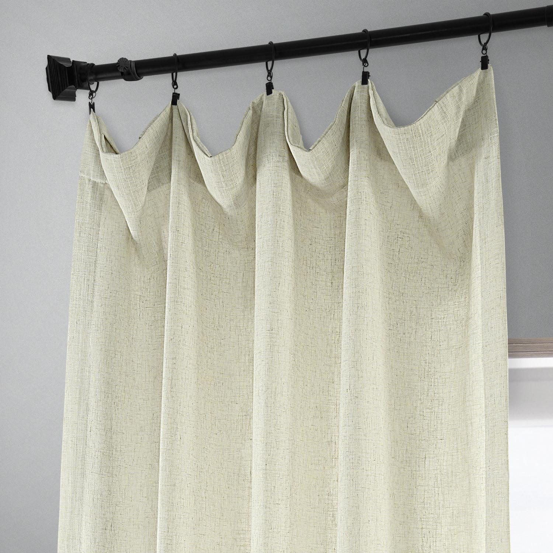 Buy Barley Heavy Faux Linen Curtain Amp Drapes Halfpricedrapes