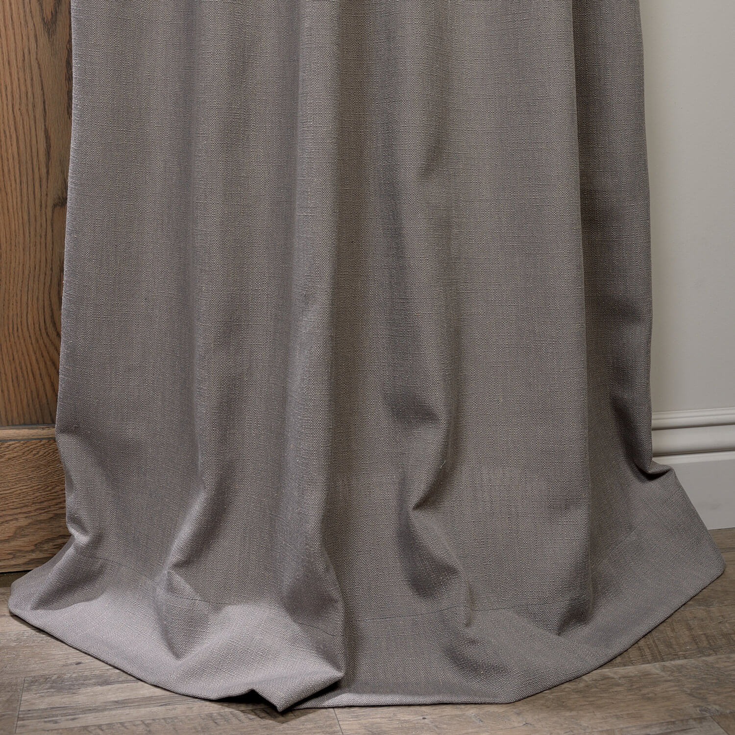 Buy Pewter Grey Grommet Heavy Faux Linen Curtain