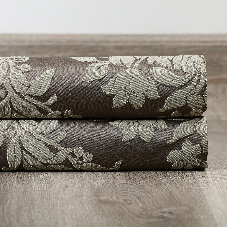 Magdelena Slate & Silver Faux Silk Jacquard Fabric