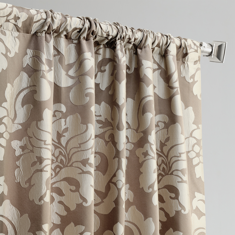 Astoria Bronze Amp Taupe Faux Silk Jacquard Curtain