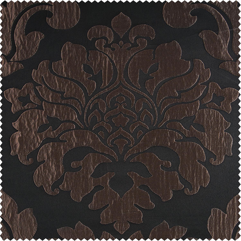 Magdelena Black & Cognac Faux Silk Jacquard Swatch