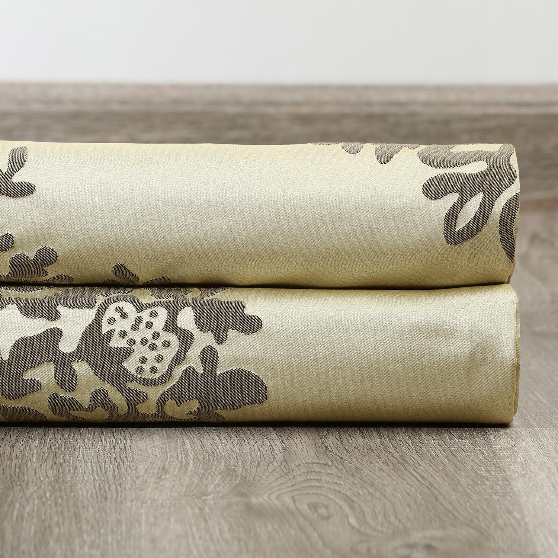 Ellaria Silver Dew Faux Silk Jacquard Fabric